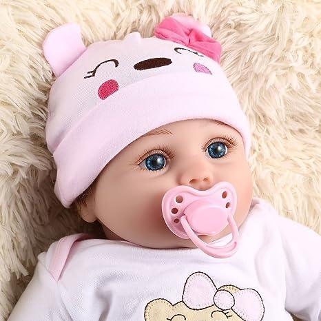 feafe04c0c371 BlackPJenny 55 CM 6 PZ   Set Cute Design Bambini Bambola Reborn Morbido  Vinile Realistico Bambola