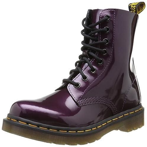 Mujer Pascal Purple Patent Spectra Para Militares Dr Botas Martens gwq5g68