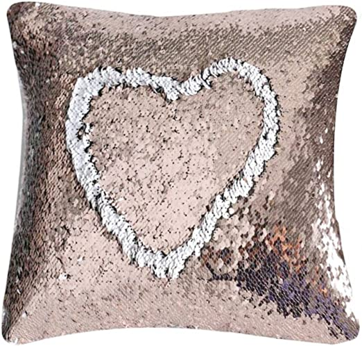 Stylish Double Color Sequins Throw Pillow Case Home Office Car Cushion Cover NEW