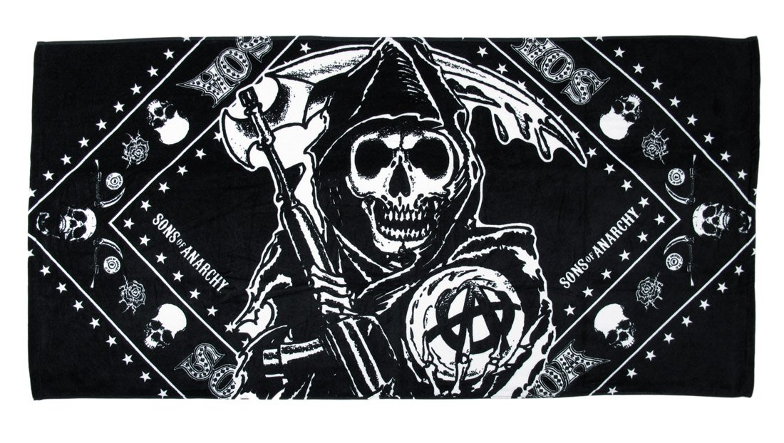 Sons Of Anarchy Grim Reaper Beach Towel Amazon Kitchen Home