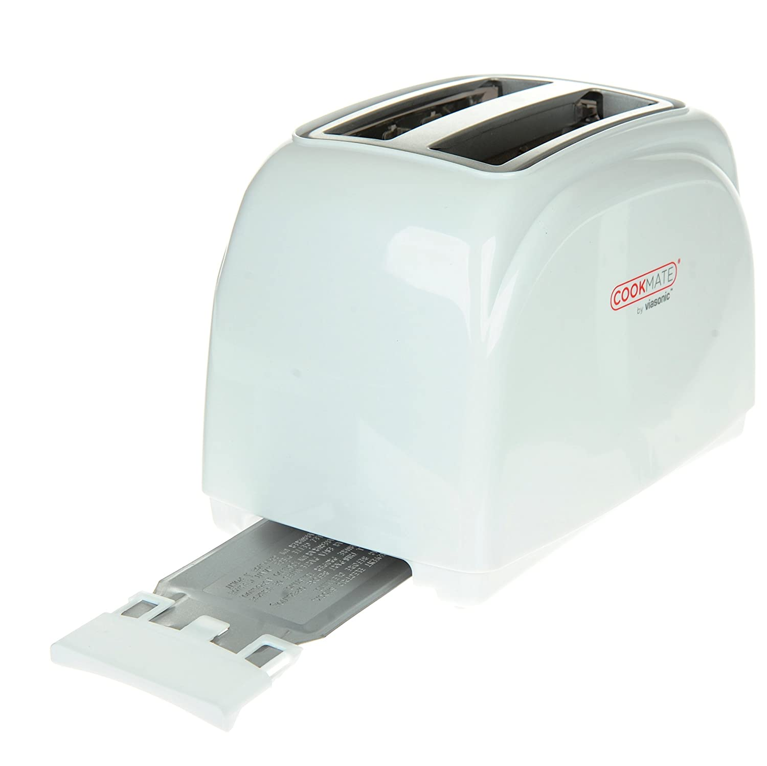 By Unity 7 Temperature Levels 750W ETL-Listed Quick Bagel Button Sleek Unibody Frame Cookmate 2-Slice Toaster