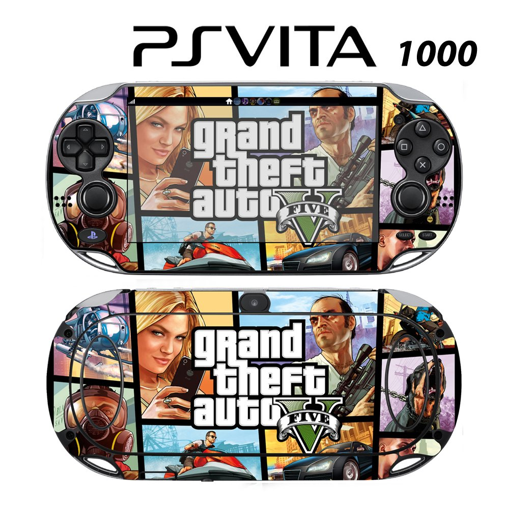 Decorative Video Game Skin Decal Cover Sticker for Sony PlayStation PS Vita (PCH-1000) - GTA V
