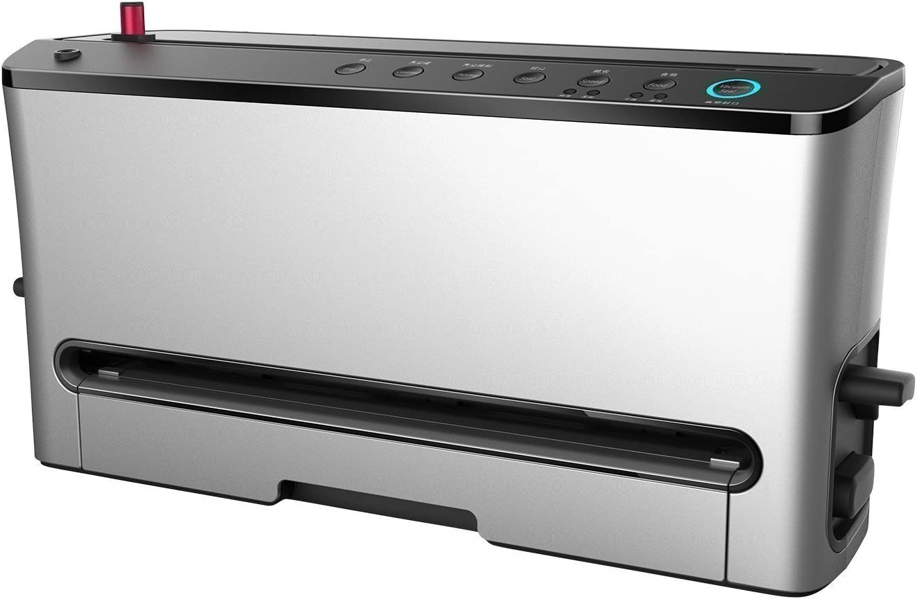 BioChef Vacuum Sealer Pro - High Quality Vertical Home Food Sealer, Automated Vacuum Packaging System - with Cutting Mechanism, Drip Tray, Washable and Reusable Vacuum Bags and Vacuum Roll