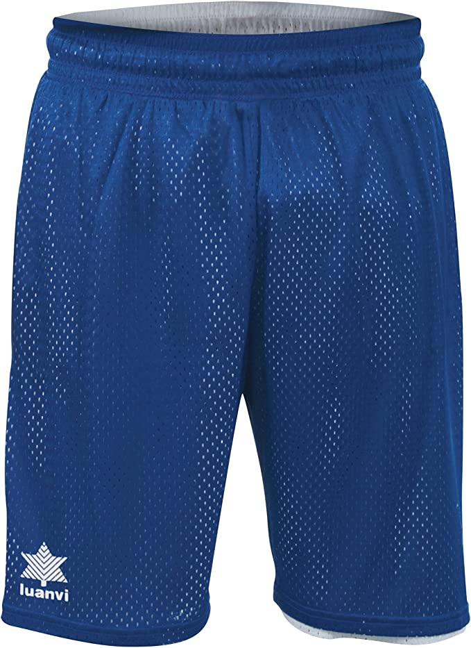 Luanvi Triple Bermuda Reversible de Basket de Baloncesto, Unisex ...