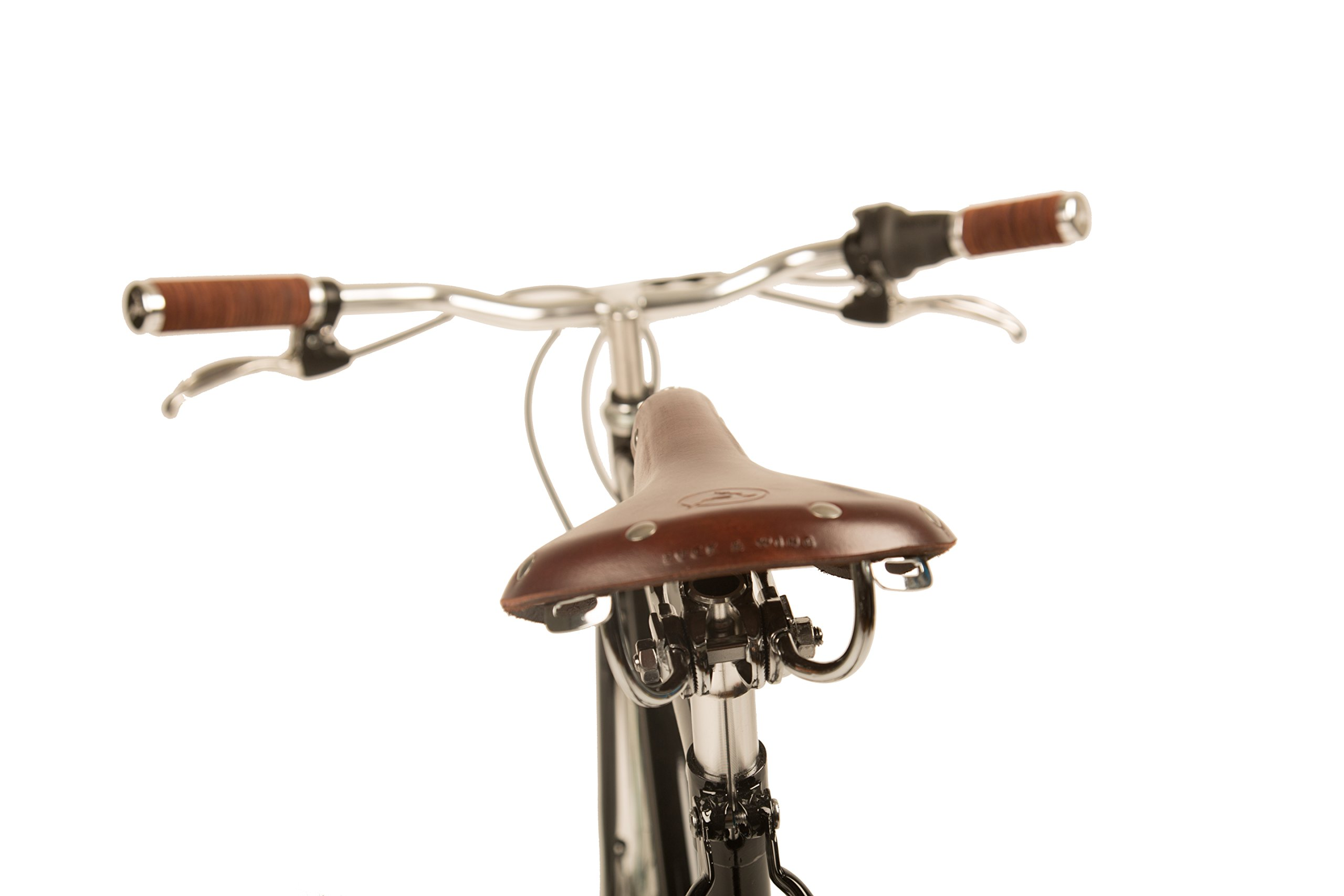 Marc 3-speed Internally Geared Upscale Roadster with Classically Lugged Frame and Fork and Buck & Wing Leather Accessories by Mozie Bicycles (Image #9)