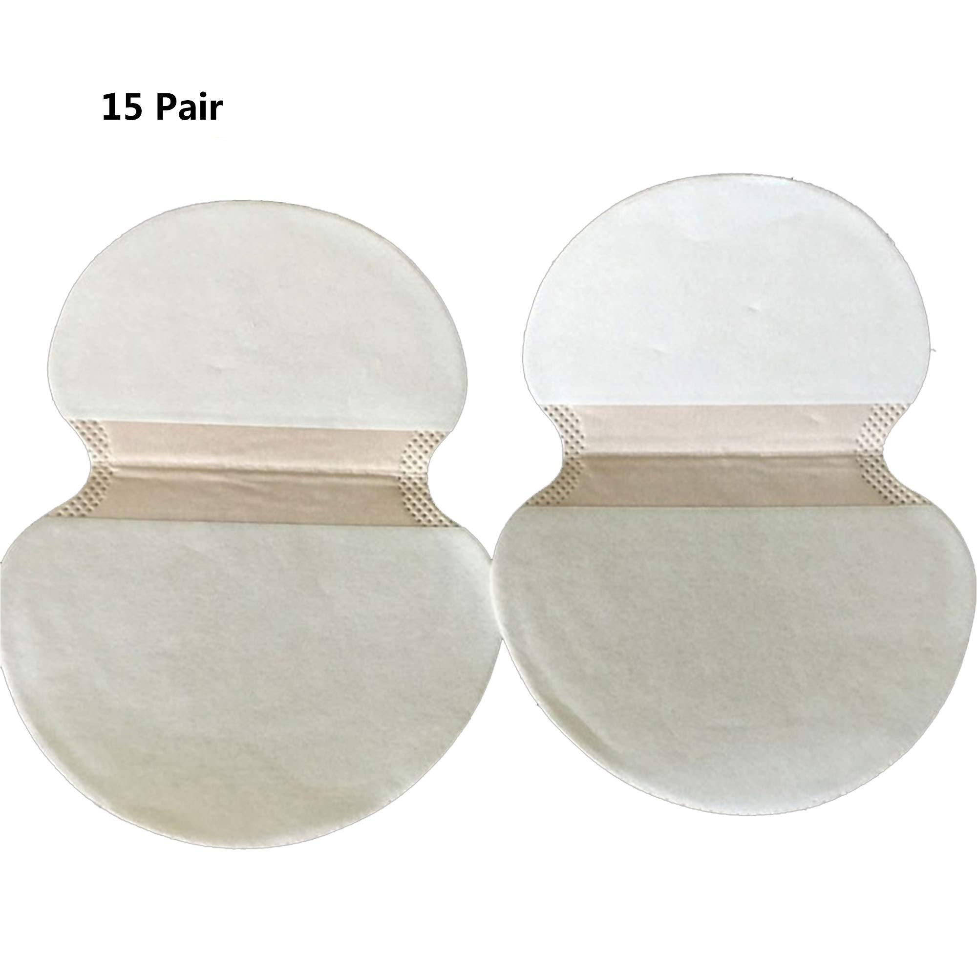 Underarm Sweat Pad, Disposable Absorbent Underarm Shields Antiperspirant Adhesive Underarm Pad Armpit pad Comfortable Discreet Sweat Free Odor Free (15 Pair)