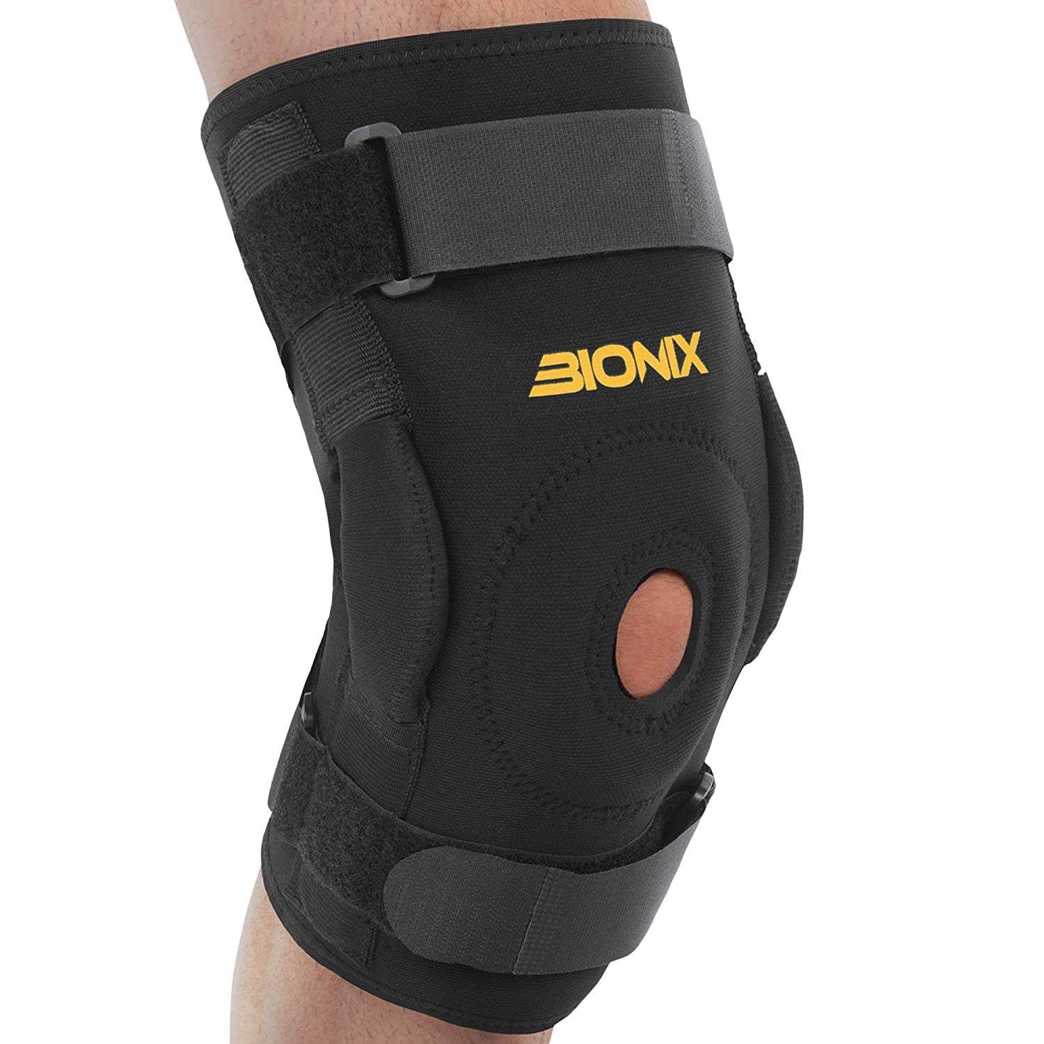8a9ef010d4 Bionix Professional Support Hinged Knee Brace Support w/ Bilateral  Stability (Neoprene) Left, Right Leg   Injury Prevention & Recovery,  Thermal Compression ...