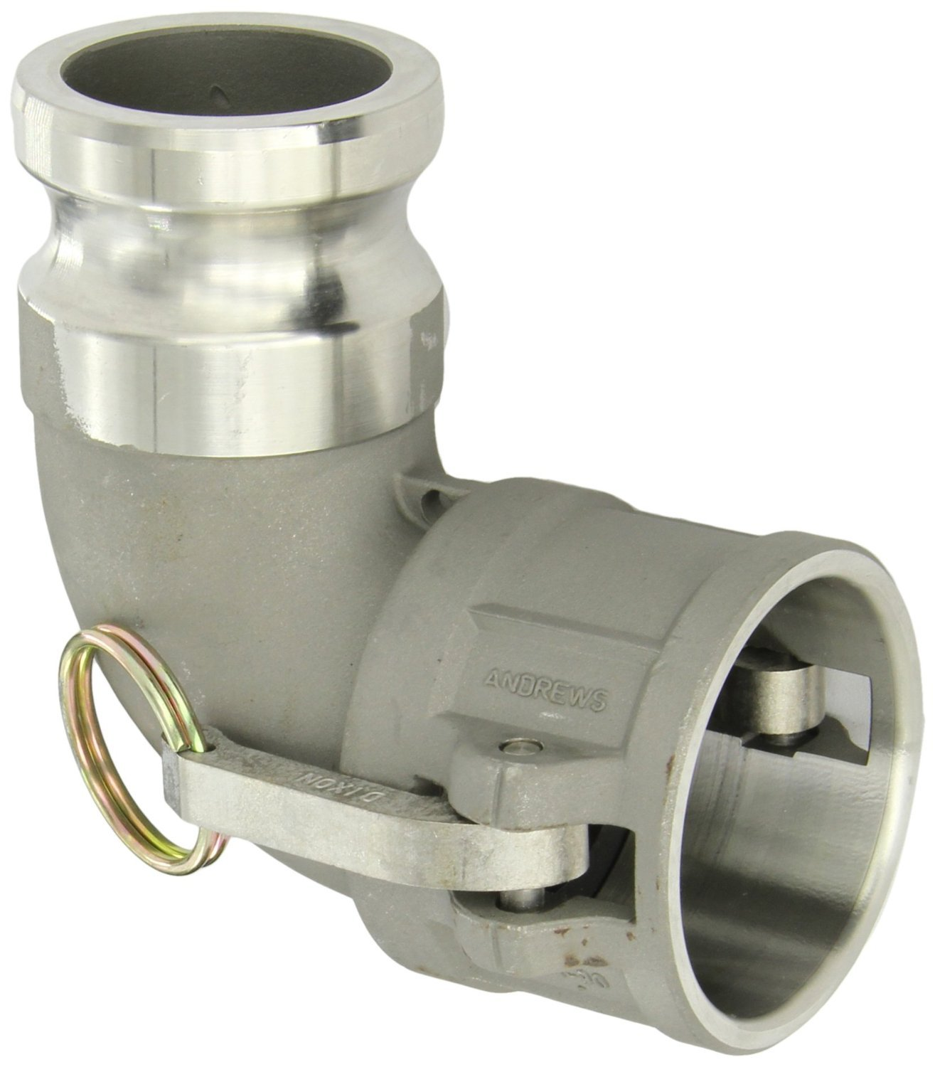 Dixon 200DA-90SS Stainless Steel 316 Cam and Groove Hose Fitting, 90 Degree Elbow, 2'' Plug x 2'' Socket