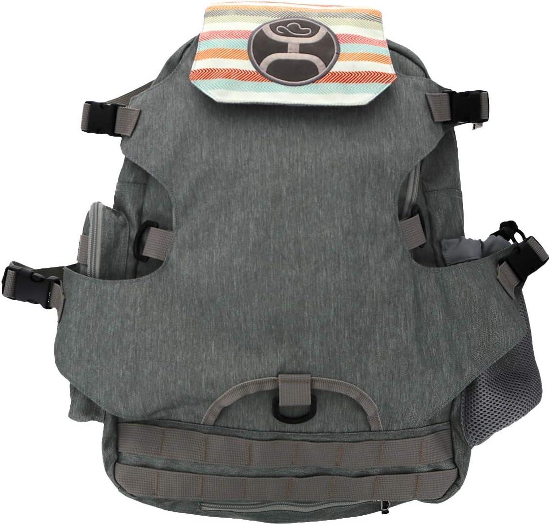 HOOey Virginia Fashion Beach Mall Backpacks Grey Stripe