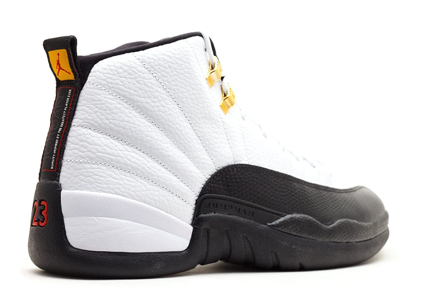 best service eb5bd 7251f Amazon.com   Jordan Air 12 Retro Taxi Men s Basketball Shoes  White Black-Taxi-Varsity Red 130690-125   Basketball