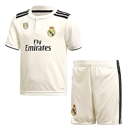 5359fc280 GOLDEN FASHION Non Branded Real Madrid Home KIT 2018-19 Jersey with Short  and with