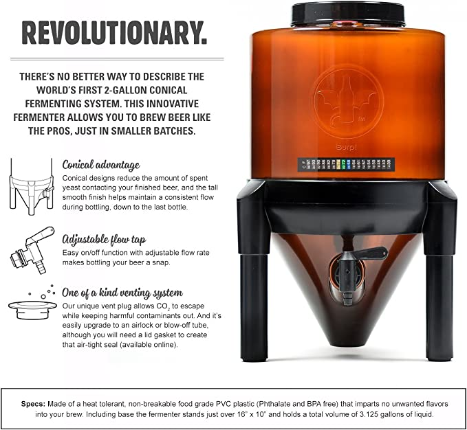 Create an Airtight Seal When Using An Airlock With Our BrewDemons 2 Gal BrewDemon 3-Pack Replacement Lid Gaskets Conical Fermenter