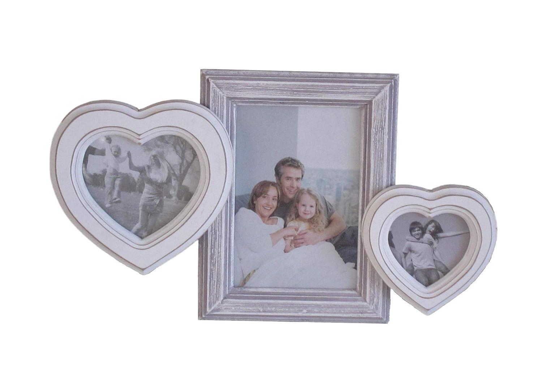 elbmöbel Bilderrahmen in weiß antik Collage aus Holz Shabby Vintage ...