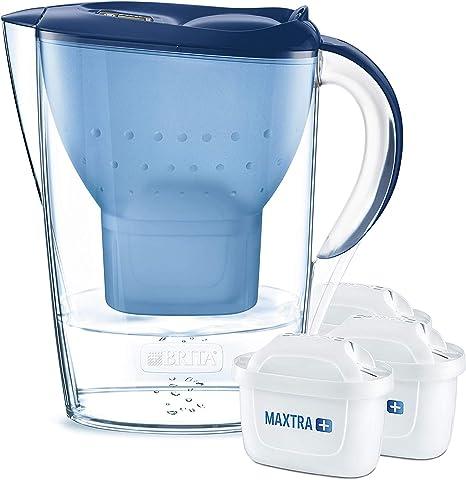 BRITA Marella – Jarra de Agua Filtrada con 3 cartuchos MAXTRA+ ...