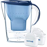 BRITA Marella water filter jug includes 3 MAXTRA+ water filter cartridge, Blue -Fridge fit