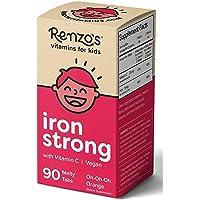 Renzo's Iron Strong, Dissolvable Vegan Vitamins for Kids, Zero Sugar, Oh-Oh-Oh Orange...