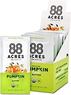 product image for 88 Acres Organic Pumpkin Seed Butter | Keto-Friendly, Gluten Free, Dairy Free, Nut-Free Seed Butter Spread | Vegan & Non GMO | 20 Single Serve Squeeze Packs, 1.16 oz