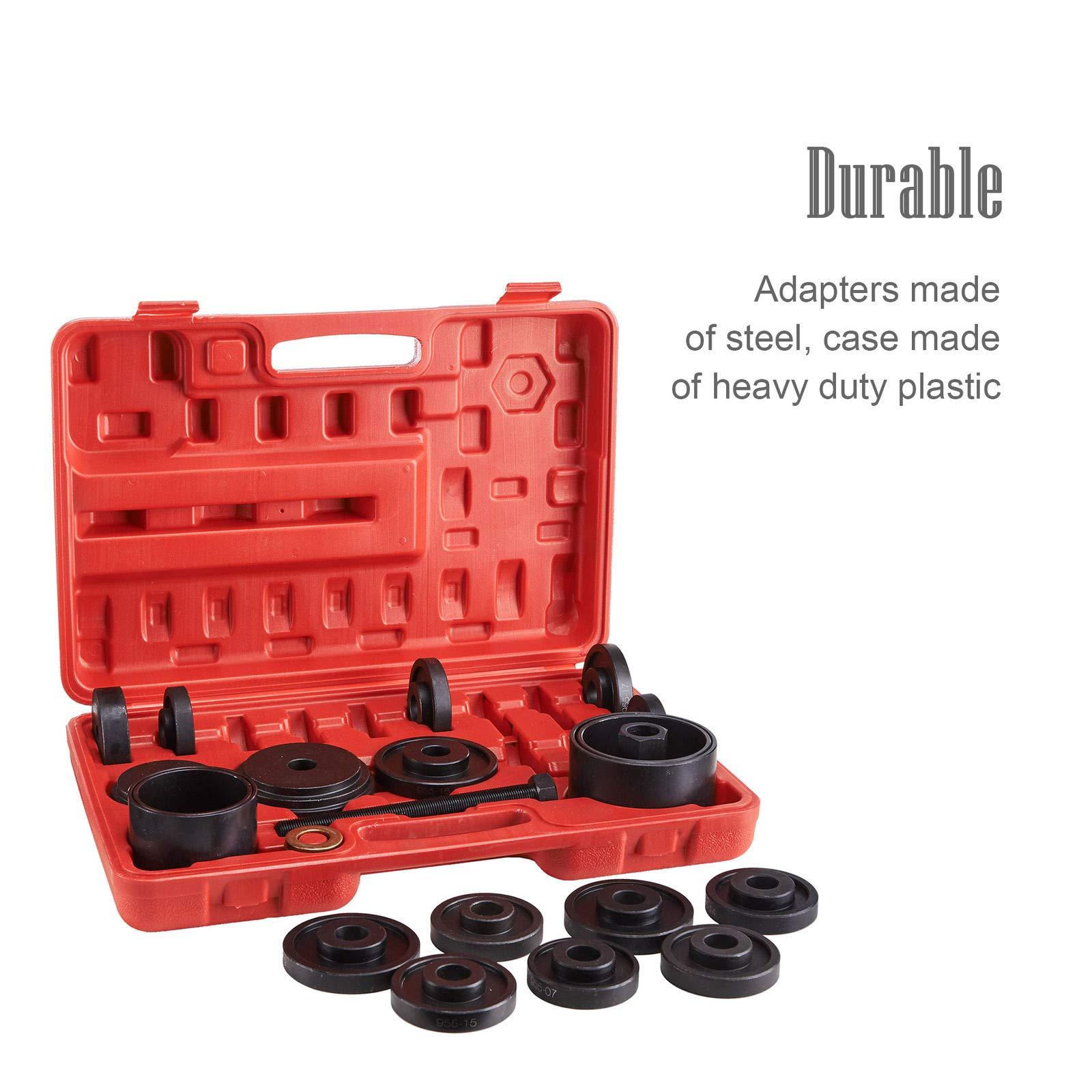 ์Nice1159 New 23 pcs Front Wheel Bearing Press Kit Removal Adapter Puller Pulley Tool Kit- Excellent Stability; (Only 5 Sets Left)