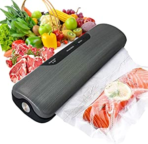 Vacuum Sealer Machine for Food Saver Storage, Automatic Food Sealers Commercial Vacuum Packing Machine Portable Heat Sealer with 20 Vacuum Sealer Bags for Dry & Moist Food Food Preservation (Gray)