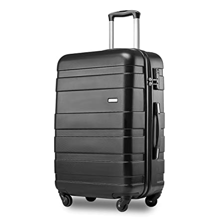Merax Hard Shell Carry On Cabin Hand Luggage Suitcase Black