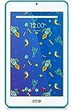"""SPC Flow - Tableta de 7"""" (Quad Core Cortex A53 1.3 GHz, memoria interna 8 GB, 1 GB de RAM, HD, Android 7.0) azul"""