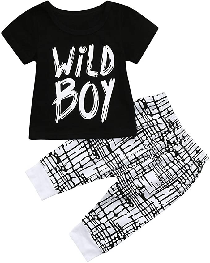 Summer Kids Baby Boys Clothes Clothing Outfits Sets Boy Outfit T-shirt Pants