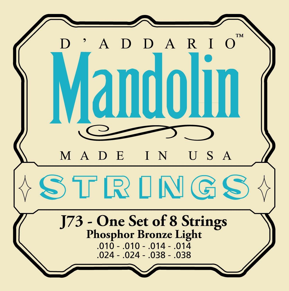 DAddario J80 Phosphor Bronze Octave Mandolin Strings