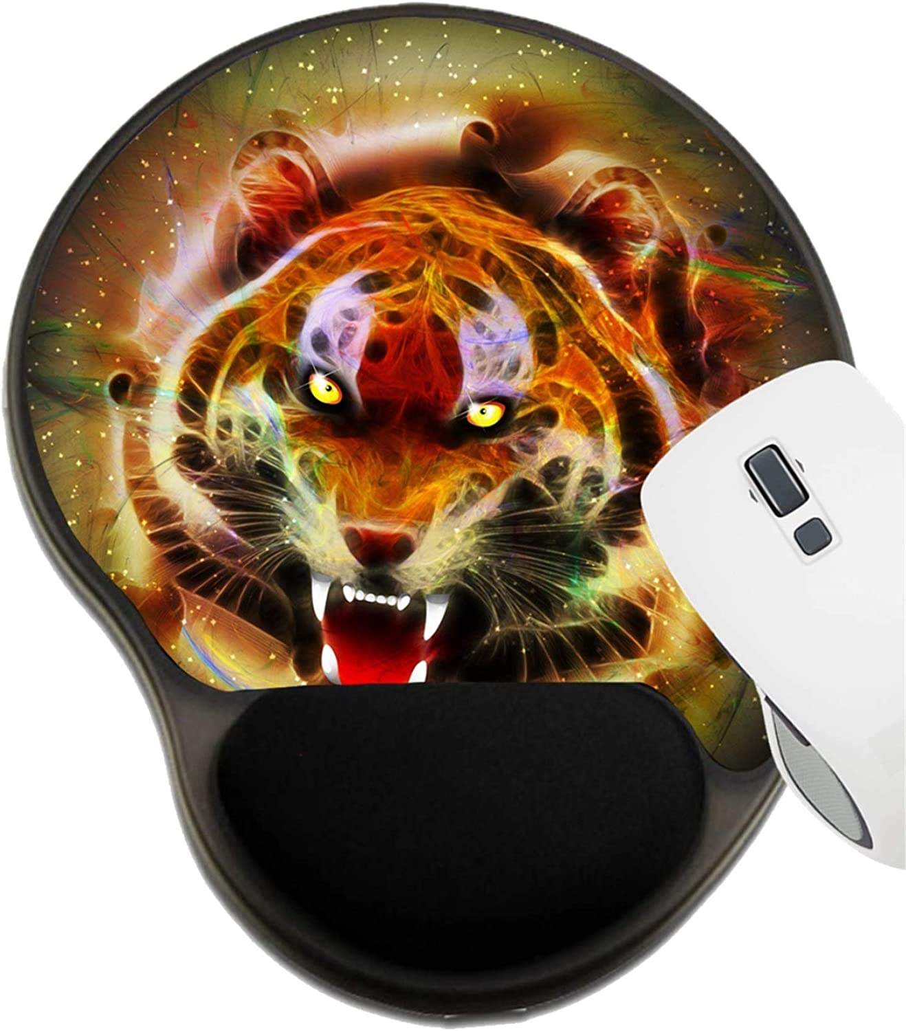 MSD Mousepad Wrist Rest Protected Mouse Pads Lion Against Stormy Sky Image ID 17928137 Mat with Wrist Support