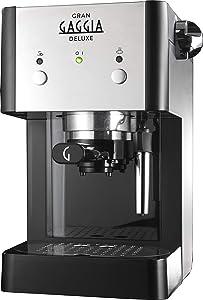 Gran Gaggia Deluxe in Schwarz/Silber - Espressomaschinen Angebot