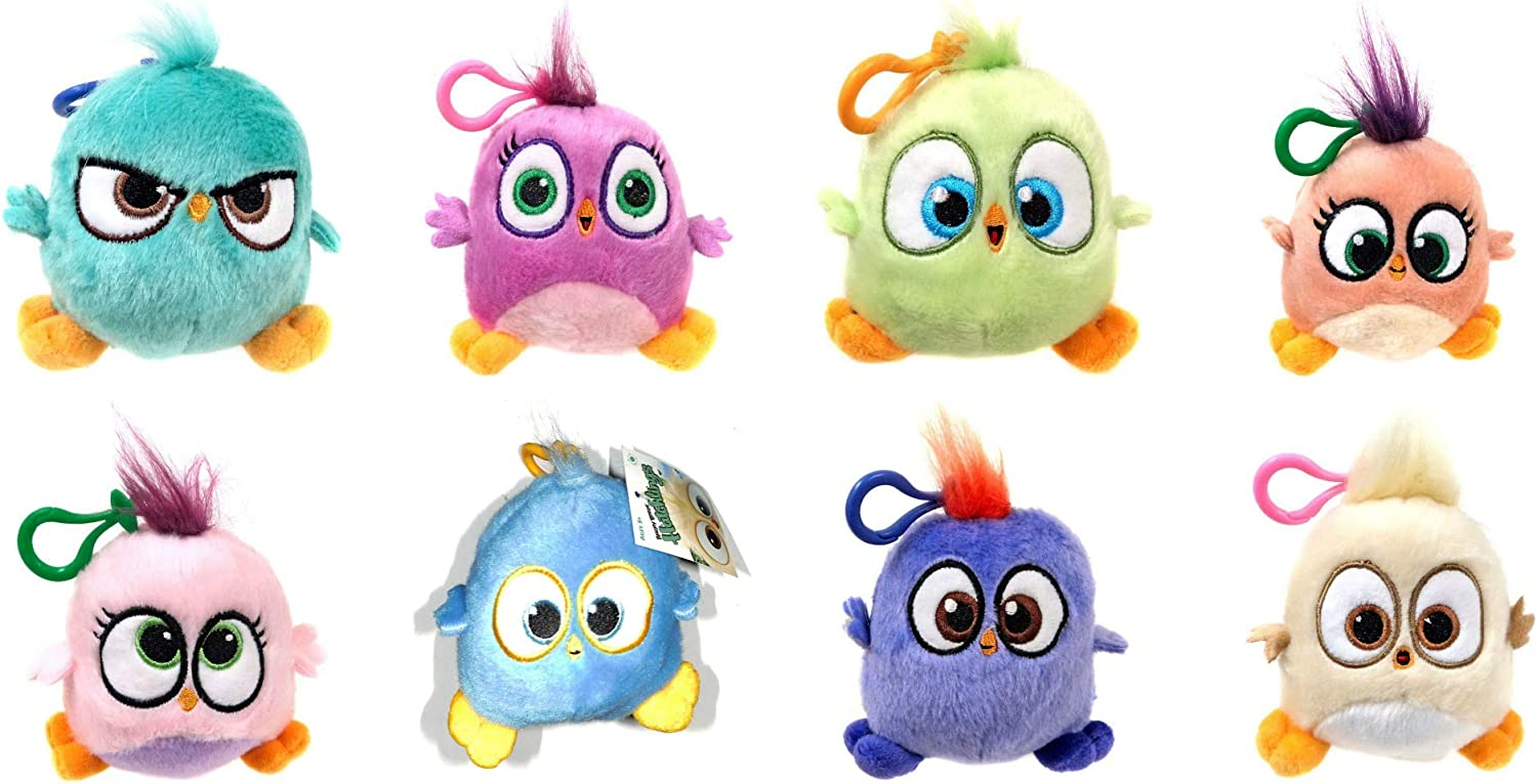Rovio Angry Birds Hatchlings Set Of 8 Plush Clip Ons 4 Inch Toys Games Amazon Canada