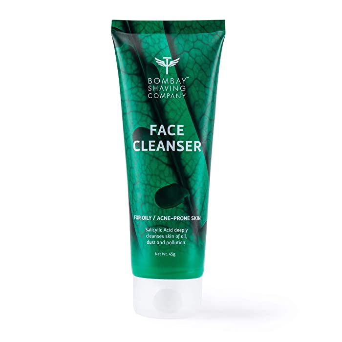 Bombay Shaving Company Anti-Acne Face Cleanser, With Salyclic Acid For Oily Skin, 100g | Paraben, SLS, SLES Free