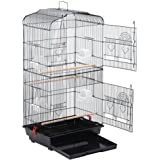 "Yaheetech 36"" Metal Bird Cage for Parrot Cockatiel Canary Finch"