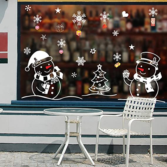 Image ofLianLe®. Decoración navideña de pared en PVC para ventanas
