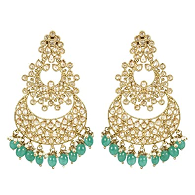MUCHMORE Indian Glamorous Style Gold Plated Party Wear Polki/Jhumka Earring Jewellery For Women PDKf1