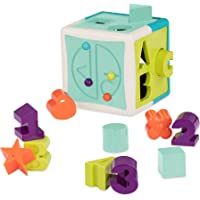 Battat - Shape Sorter Cube – Sorting Toy for Learning – Shapes, Letters, Numbers – 12 pcs – Educational Activity Cube…