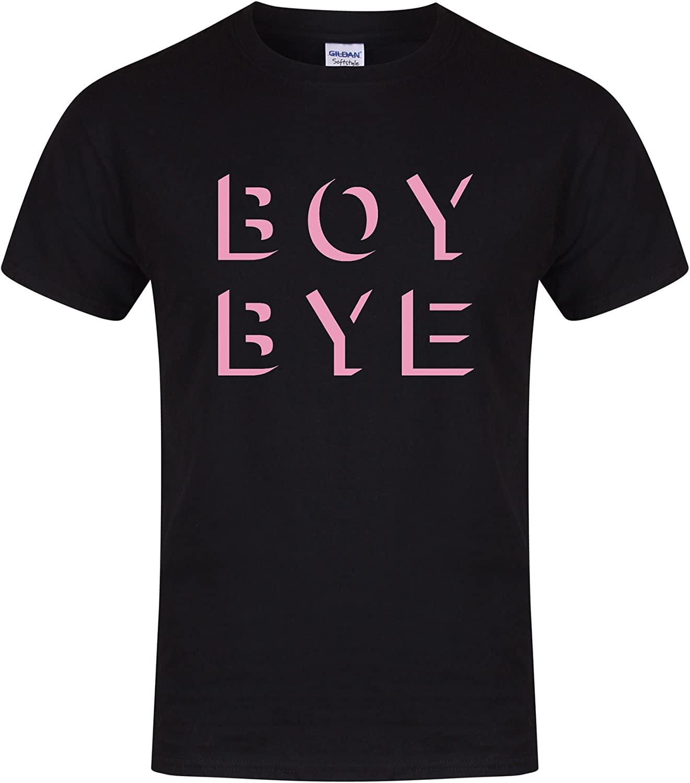 Slogan Printed T-Shirt Boy Bye