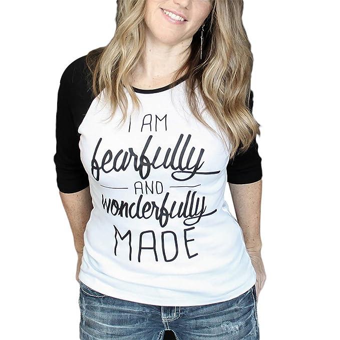 Vin beauty wlgreatsp Talla Extra Soy Hermosa maravillosamente Hecha Tops Camiseta Blusa Camisetas de Manga Larga