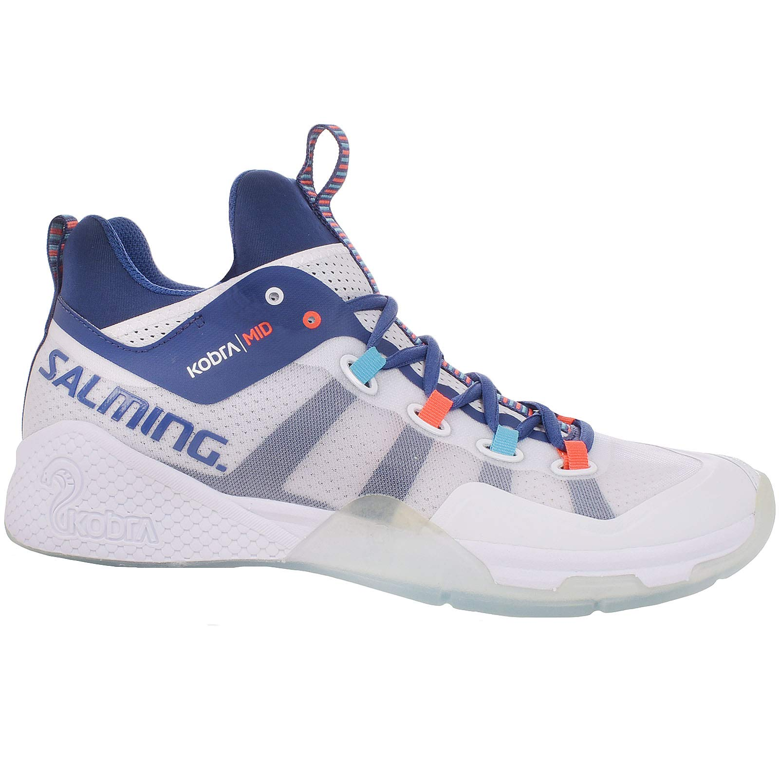 Salming Mens Kobra Mid 2 Sports Indoor Court Trainers - White/Blue - 9US