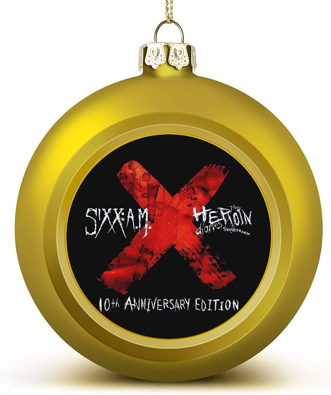 Sixx Am Logo 2020 Christmas Balls Ornament Christmas Tree Decoration 1PCS