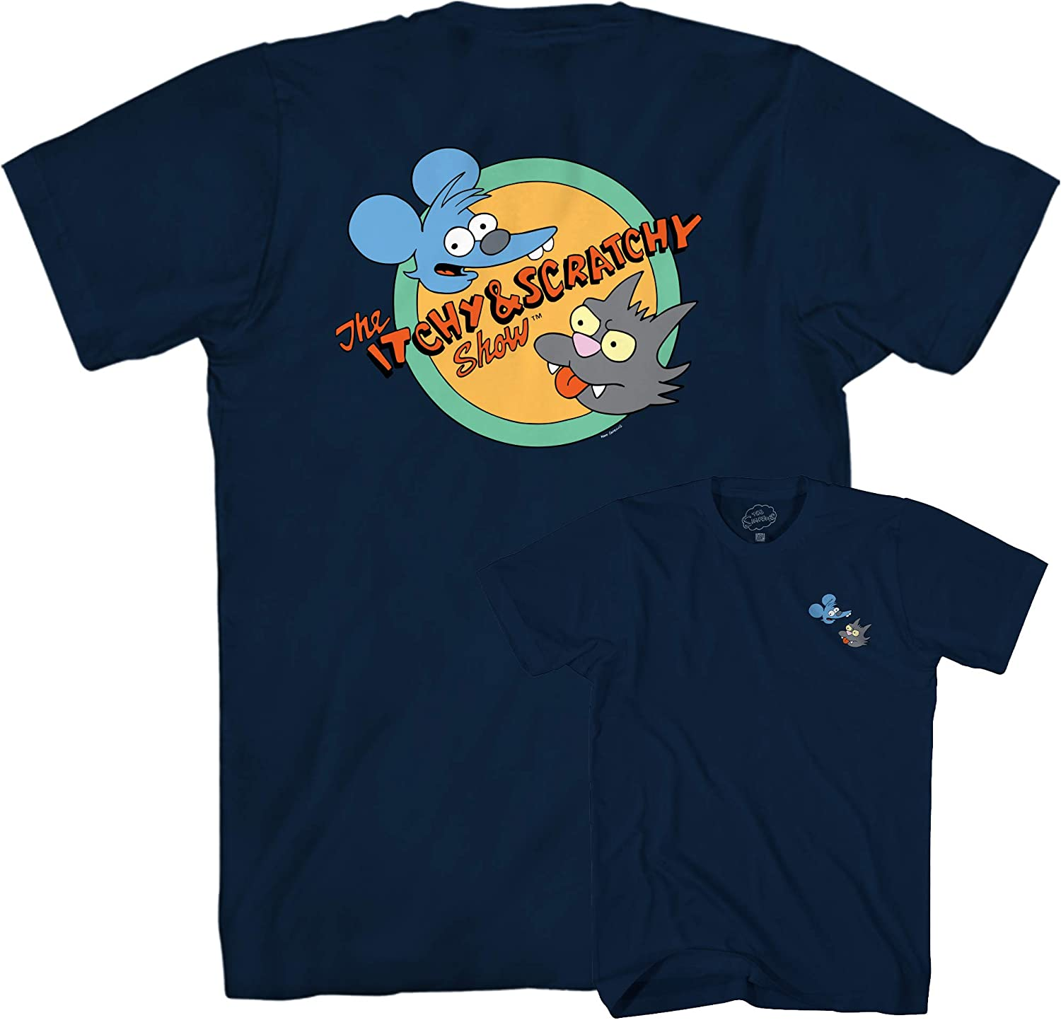The Simpsons Itchy and Scratchy Show Rocket Logo T-Shirt
