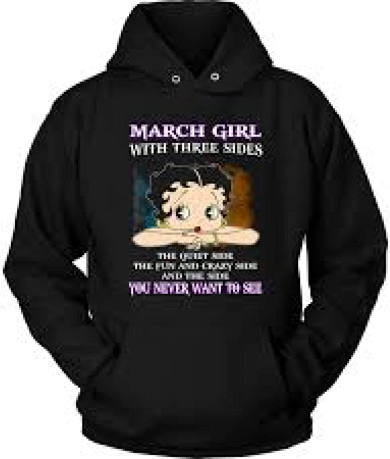 Unisex Hoodie Multicolored 10aa PapCell March Girl with Three Sides Shirt The Quiet The Fun and Crazy Side Tshirt