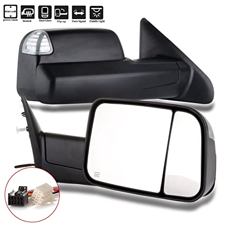 2011 2012 2013 Dodge Ram 1500 2500 3500 Passenger Side Signal Folding Mirror New