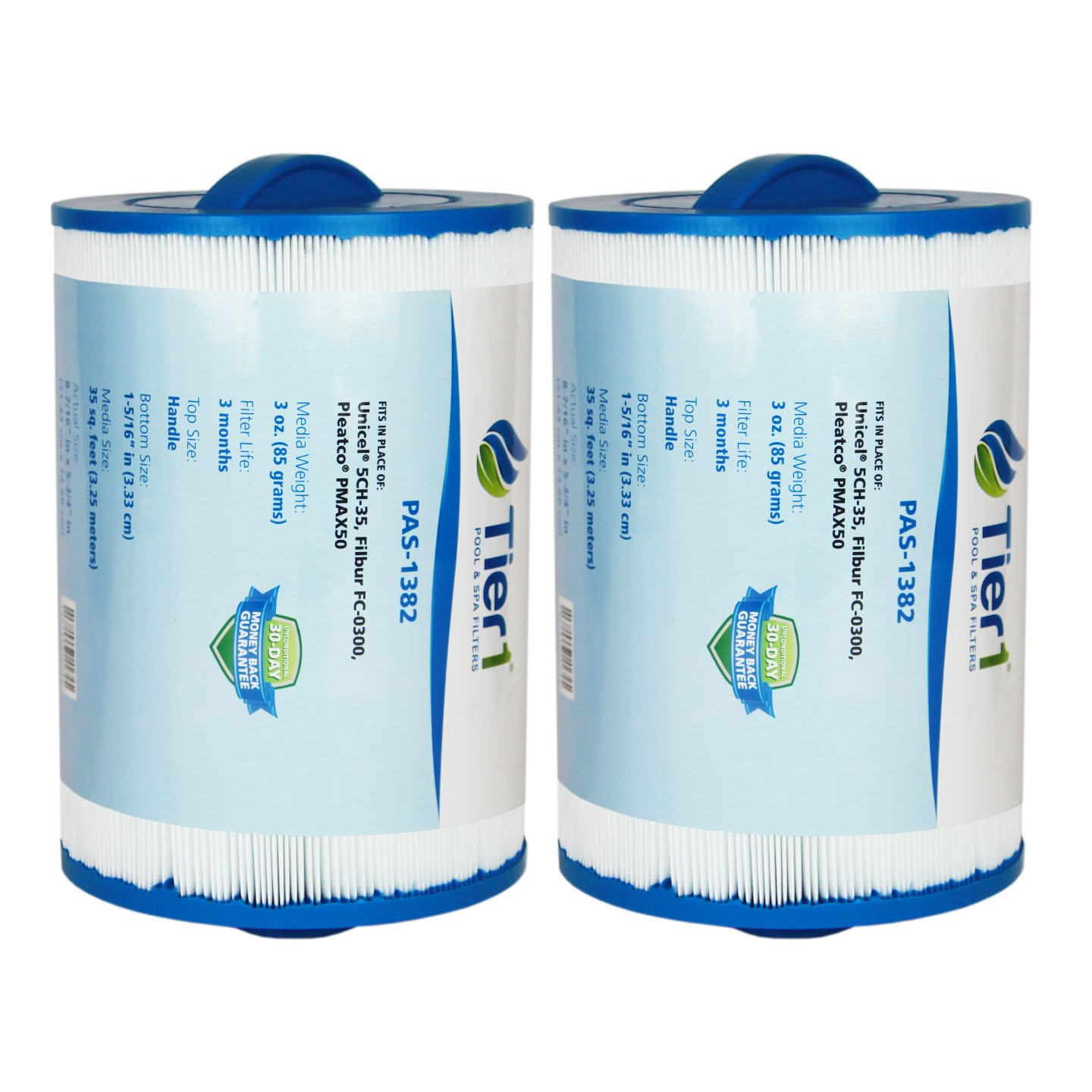Tier1 Replacement for Maax Spas of Canada PAS35P, Pleatco PMAX50, Filbur FC-0300, Unicel 5CH-35 Filter Cartridge for Maax Spas of Canada