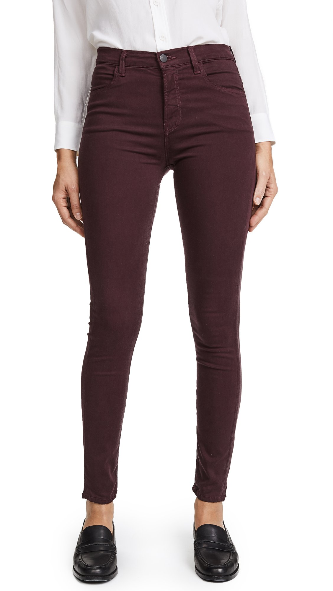 J Brand Women's Maria High Rise Skinny Jeans, Botany, 27 by J Brand Jeans