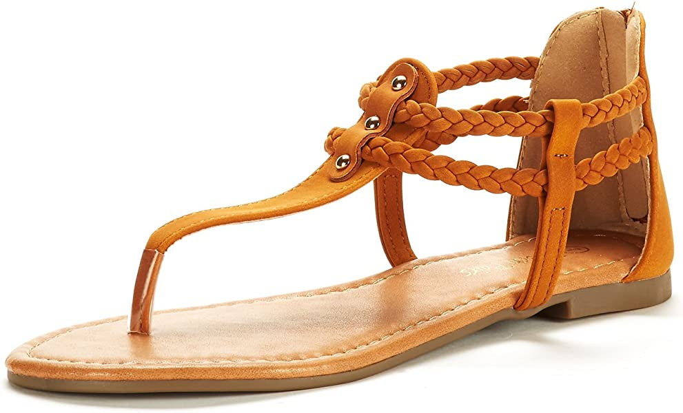 a02731dc68f0 DREAM PAIRS Women s Gladiator Flat Sandals - Amazon Mỹ