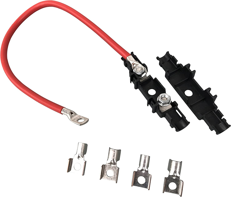 Exoda Batteriekabel Rot Mit Sicherungshalter Kabel Einseitig 25 Mm 50cm Ringöse M8 Auto