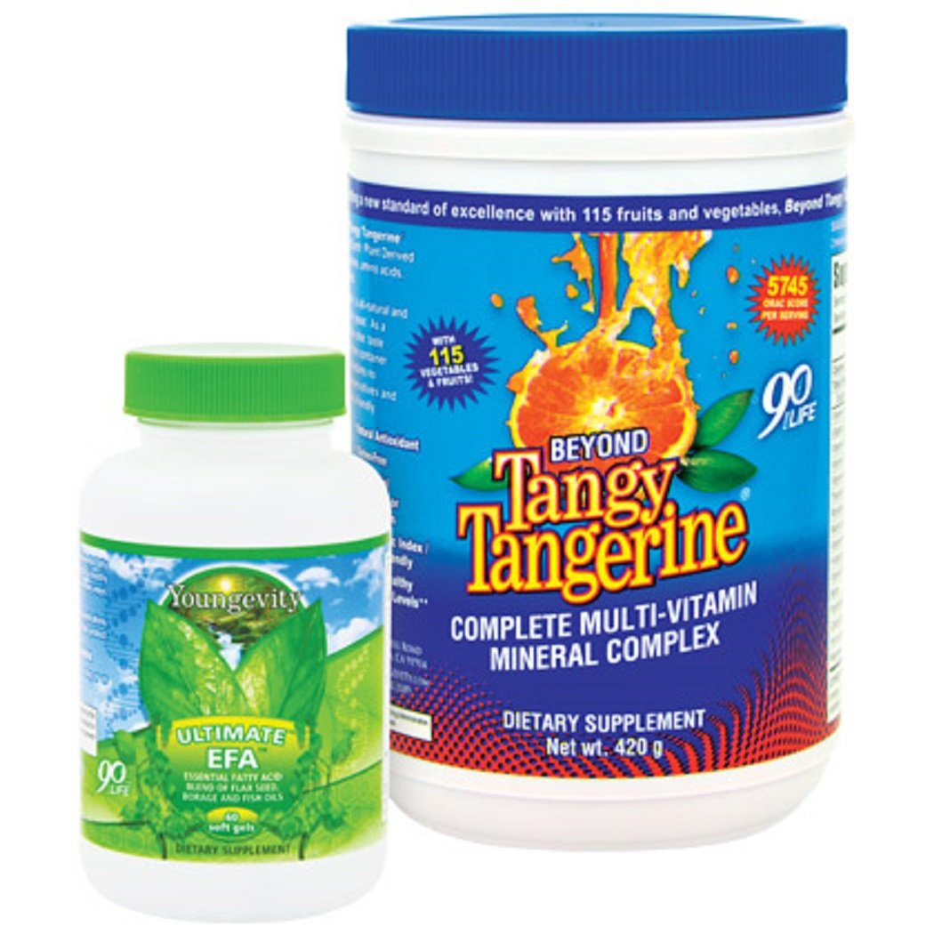 Youngevity BTT Basic 90 Pak Beyond Tangy Tangerine Ultimate EFA Plus Ships Worldwide by Youngevity