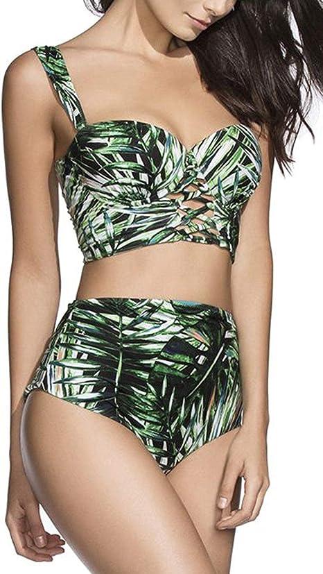 Donna Push-Up Bikini top reggiseno VERDE 42 C Costumi da bagno NUOVO!!!