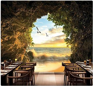 3D Beautiful Natural Landscape Self-adhesive Bedroom Background Murals Wallpaper