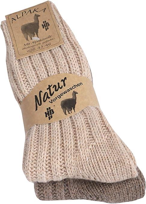 35//38 39//42 43//46 2 oder 4 Paar dicke Alpaka Socken Damen Herren Wollsocken Gr